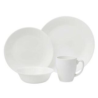 Corelle 6022003 Livingware Dinnerware Set, Winter Frost White, 16-Piece