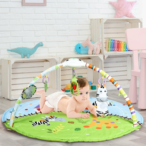 Baby Activity Educational Gym Play Mat with Hanging Toys. Opens flyout.