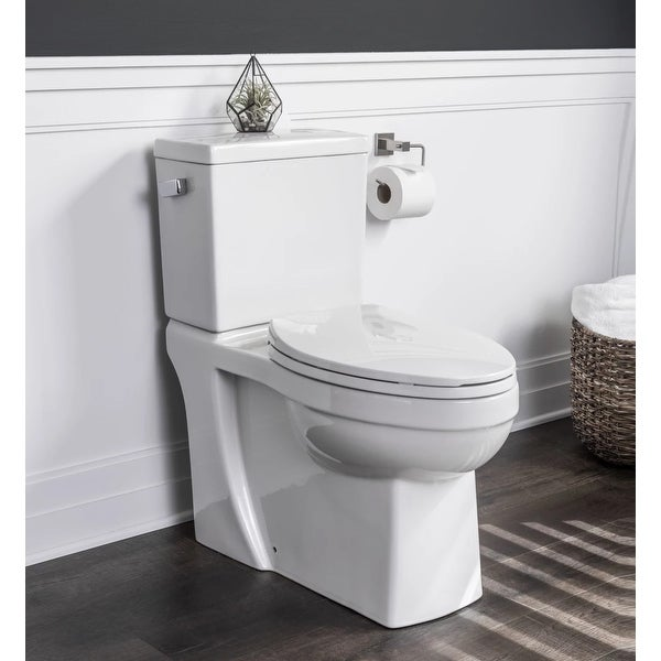 Miseno MNO370C High Efficiency 1.28 GPF Two-Piece Elongated Chair Height Toilet with Slow-Close Seat and Wax Ring Included