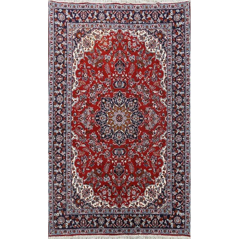 "Floral Traditional Kashan Oriental Area Rug Red Carpet - 6'4"" x 9'2"""