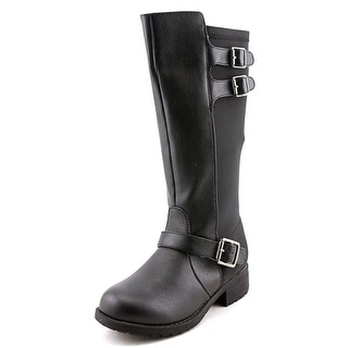 Tommy Hilfiger Charlotte Youth Round Toe Synthetic Black Knee High Boot