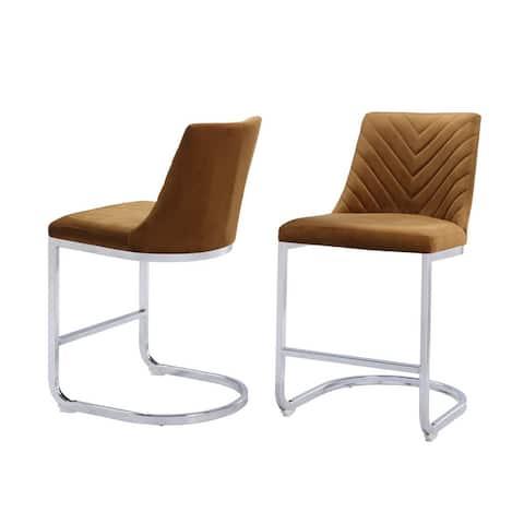 Balisa Tufted Velvet Counter Chair