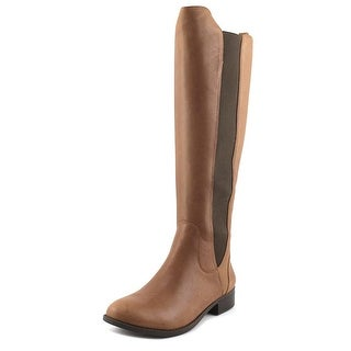 Jessica Simpson Ranica Women  Round Toe Leather Brown Knee High Boot