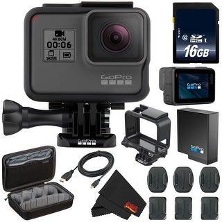 GoPro HERO6 Black + Custom GoPro Case and GoPro Accessories Bundle