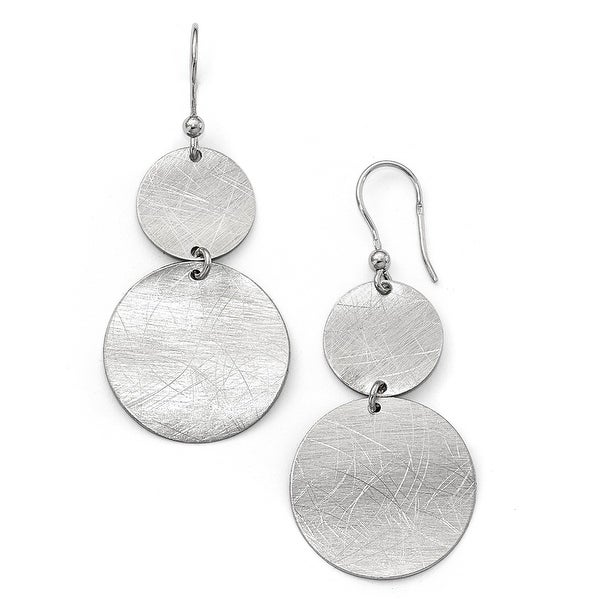 Italian Sterling Silver Shepherd Hook Earrings