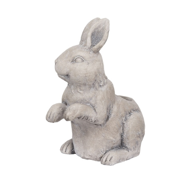 """15"""" Rabbit Magnesium and Fiber Gray Colored Outdoor Planter - N/A"""