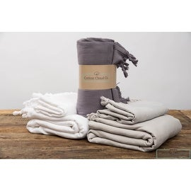 Luxury Turkish Towel Luxe Bath Towel SET Head and Body Towel