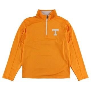 Colosseum Mens Tennessee Volunteers Sleet Embossed 1/4 Zip Sweater Yellow - S
