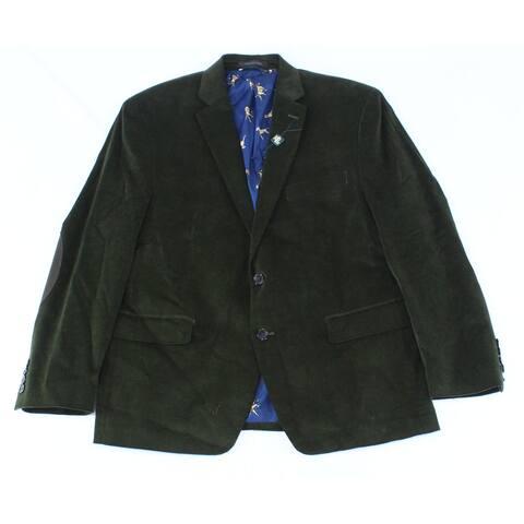 Lauren by Ralph Lauren Mens Coat Green Size 42S Short Stretch Overcoat