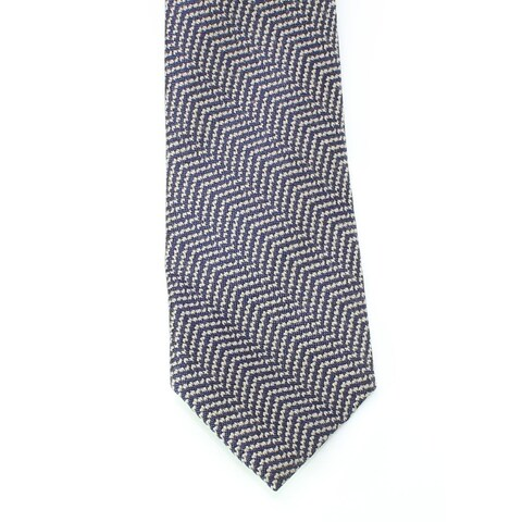 Black Brown 3416 NEW Blue Gray Woven Textured Men's Neck Tie Wool