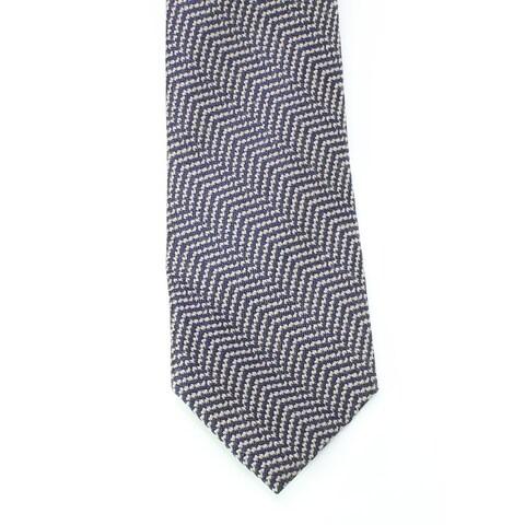 Black Brown 3586 NEW Blue Gray Woven Textured Men's Neck Tie Wool