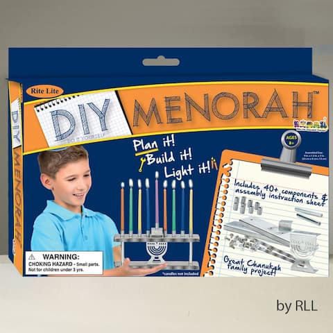 "9"" Silver Make Your Own Hanukkah Menorah Craft Set - N/A"