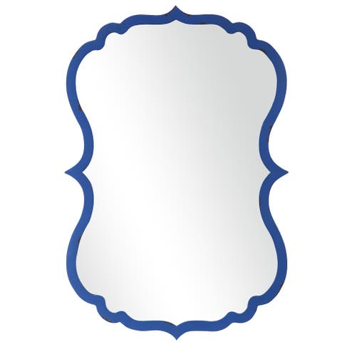 Cobalt Blue Framed Wall Mirror