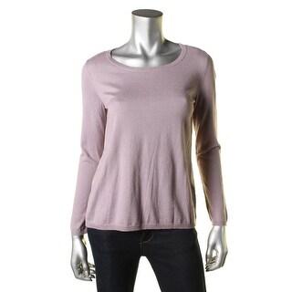 Joie Womens Jasmine Silk Back Long Sleeves Pullover Sweater - XXS