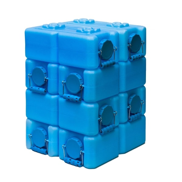 WaterBrick 3.5-gallon Water Storage Container (Pack of 8) - Blue. Opens flyout.