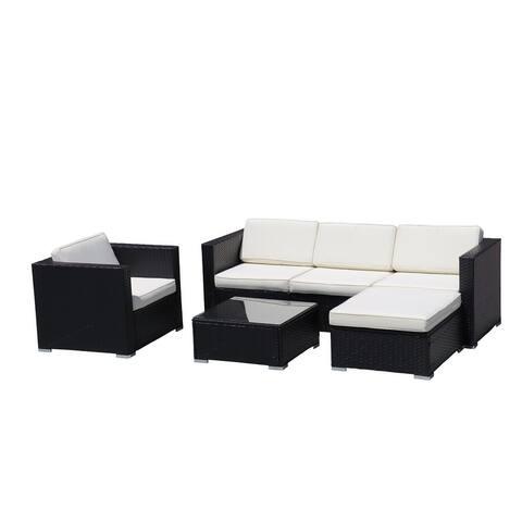 Moda Angela Outdoor 4-Piece KD PE Rattan Sofa Set