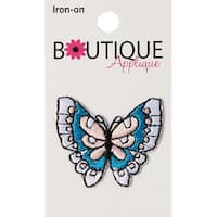 Blue & Pink Butterfly - Iron-On Appliques