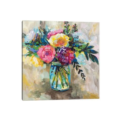 """iCanvas """"Masons Bouquet"""" by Jeanette Vertentes Canvas Print"""