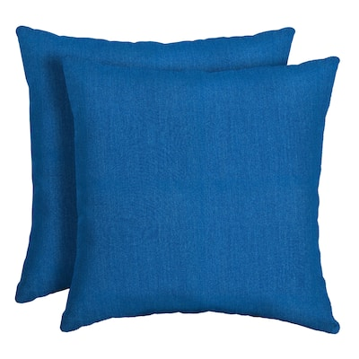 Arden Selections Lapis Canvas Texture Outdoor Square Pillow 2-Pack - 16 in L x 16 in W x 5 in H