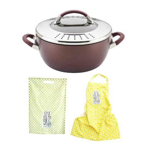 Circulon Symmetry 5.5qt Casserole Dish with Lid with Apron & Dishtowel