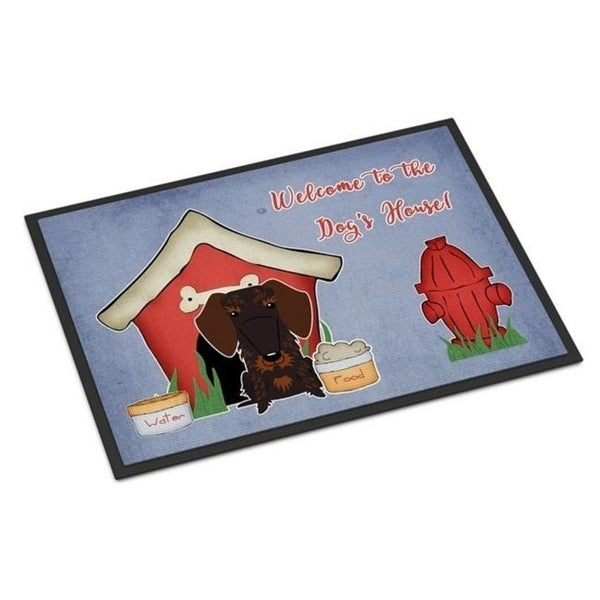 Carolines Treasures BB2883JMAT Dog House Collection Wire Haired Dachshund Chocolate Indoor or Outdoor Mat 24 x 0.25 x 36 in.