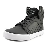 Supra Skytop Evo Men  Round Toe Leather Black Skate Shoe
