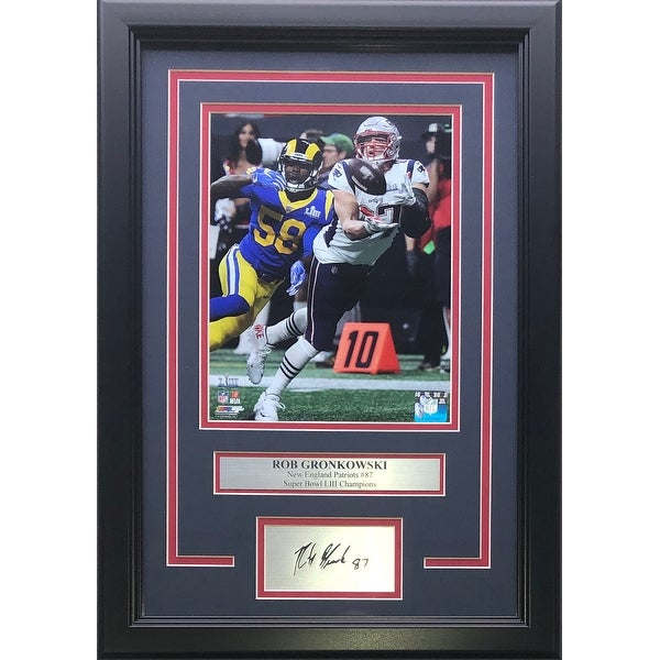 Rob Gronkowski Patriots Framed 8x10 Super Bowl 53 Photo w/Laser Engraved  Auto