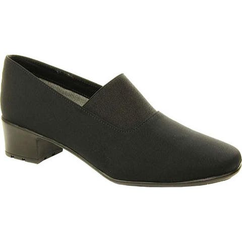 Sesto Meucci Women's Yunus Slip-On Black Micro Fabric