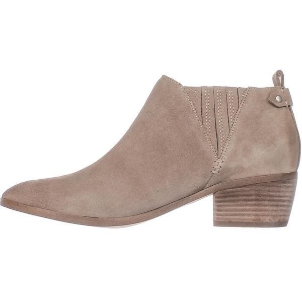 Marc Fisher Womens Wilde Suede Closed Toe Ankle Cowboy Boots
