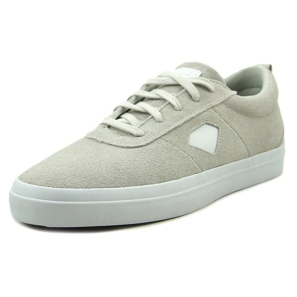 Diamond Supply Co Icon Men Round Toe Suede White Skate Shoe