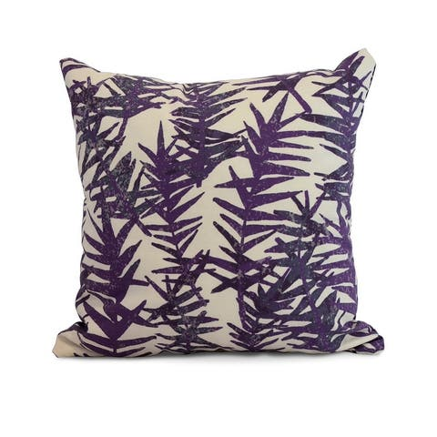 18 x 18 Inch Spikey Floral Print Outdoor Pillow
