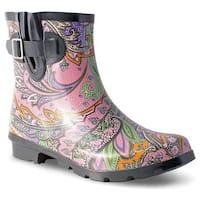 Nomad Women's Droplet Rain Boot Pastel Paisley