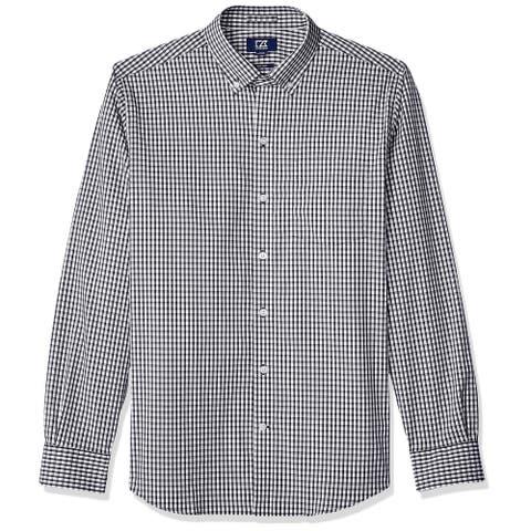 Cutter & Buck Mens Shirt Black Size Large L Button Down Wrinkle Resistant