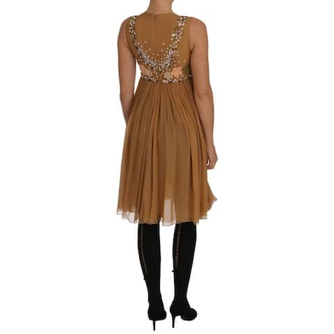 Crystal Silk Gold A-Line Gown Men's Dress