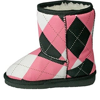 Dawgs Girls Aussie Style Casual Boots Faux Fur Lined Microfiber