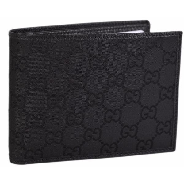 Gucci 278596 Men's Black Nylon GG Guccissima Bifold Wallet