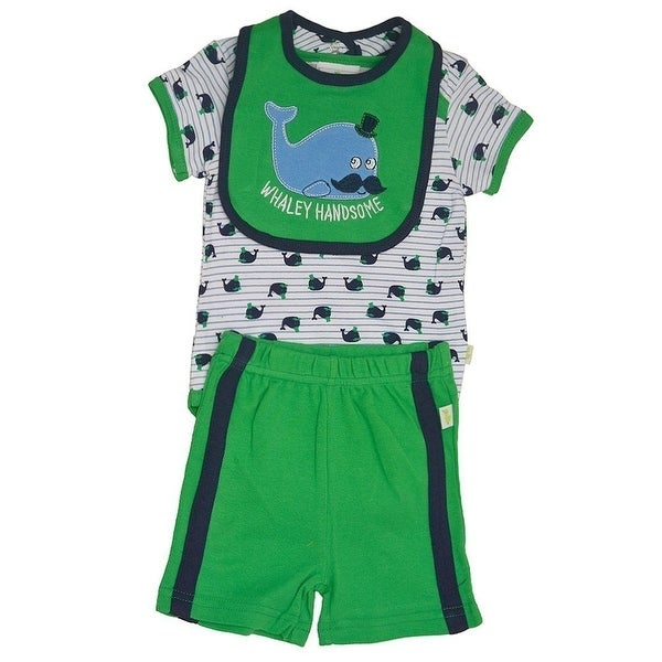 Shop Duck Duck Goose Baby Boys Green Whale Print Bodysuit Bib 3 Pc