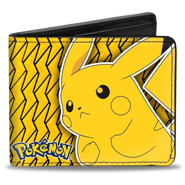 Pokmon Pikachu Pose Yellow Black Bi Fold Wallet - One Size Fits most