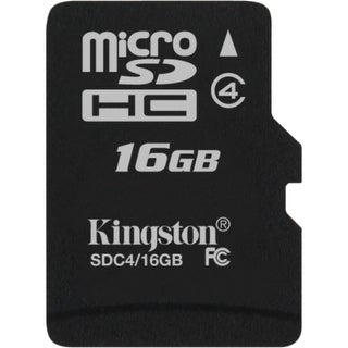 Kingston SDC4/16GBSP Kingston SDC4/16GBSP 16 GB microSDHC - 1 Card/1 Pack
