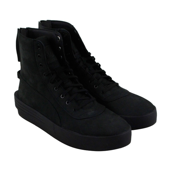 afb39f282eb Shop Puma Xo Parallel Mens Black Leather High Top Lace Up Sneakers ...