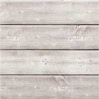 """Jillibean Soup Mix The Media Wooden Plank-6""""X6"""" Weathered White"""
