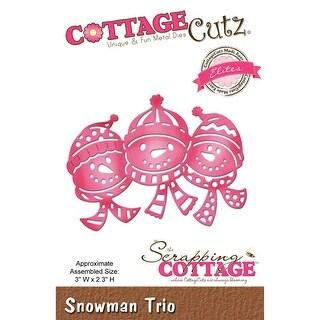 """CottageCutz Elites Die -Snowman Trio, 3""""X2.3"""""""