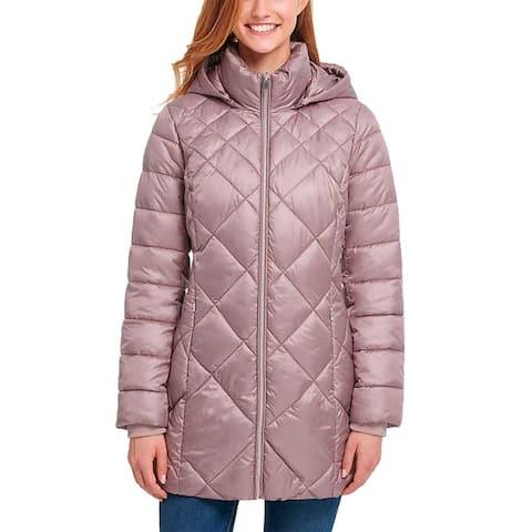 Andrew Marc Ladies Hooded Premium Puff Diamond Quilt Long Jacket Parka