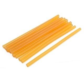 11mmx270mm Heating Gun Hot Melt Glue Adhesive Stick Yellow 14pcs