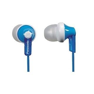 Panasonic ErgoFit In-Ear Earbud Headphones Dynamic Crystal Clear Sound, Ergonomic Comfort-Fit (Blue)
