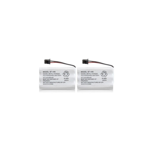 Replacement Battery For Uniden TRU9480-2 Cordless Phones - BT446 (800mAh, 3.6V, Ni-MH) - 2 Pack