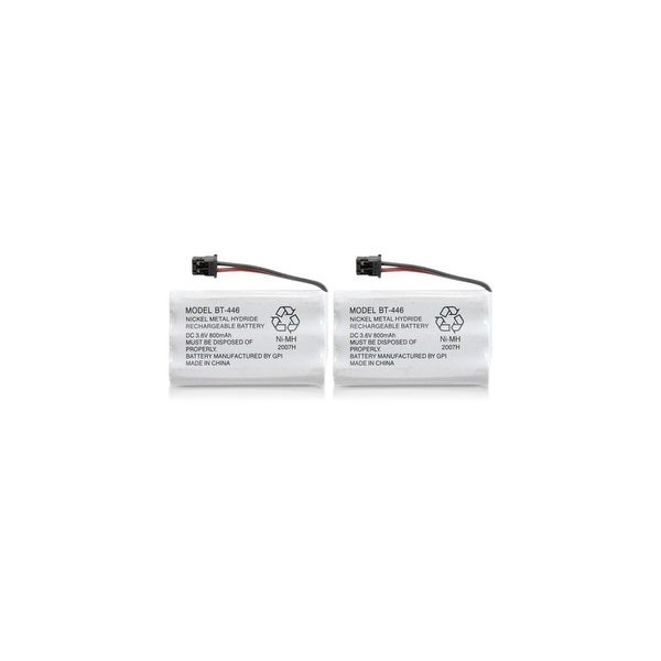 Replacement Battery For Uniden WXI477 Cordless Phones - BT446 (800mAh, 3.6V, Ni-MH) - 2 Pack