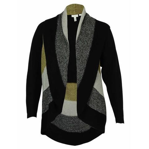 Charter Club Women's Metallic Open Knit Sweater