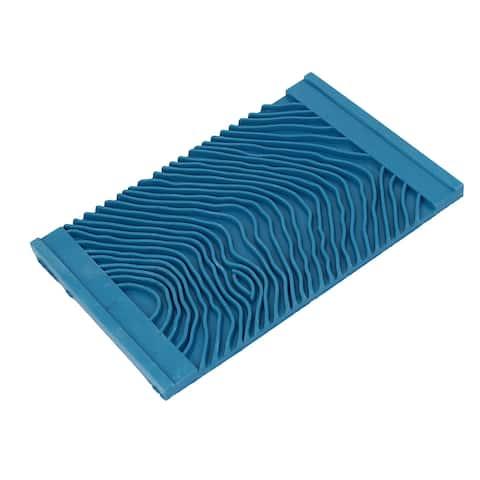 MS12 Household Wall Art Paint Rubber Wood Graining DIY Tool 15cmx9.5cm Blue