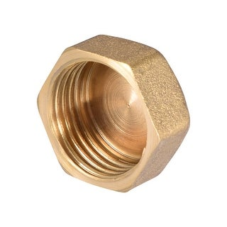 """Brass Cap, Hex Pipe Fitting 1/2""""G Female Pipe Connector - 1/2"""" G 1pcs"""
